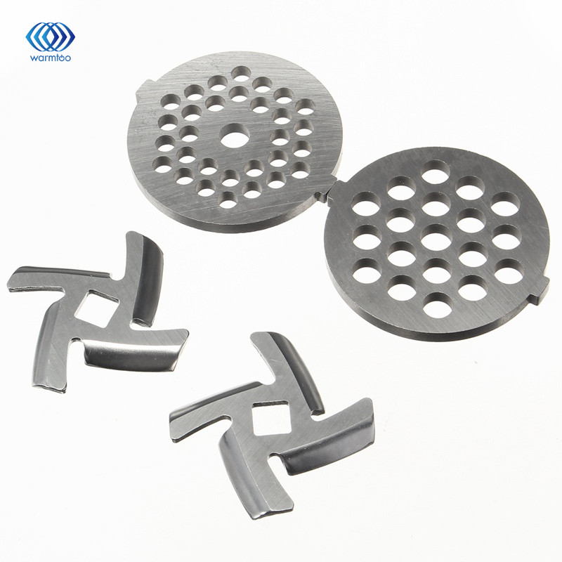 Meat Grinder Blade Spare Part Stainless Steel 2 Pcs Meat Chopper + 2 Pcs Cutter Blade For MG30/60 gezi electric meat grinder meat cutter parts stainless steel blade matching meat cutter suits for jr1 jr2 jr3 jr5 jr6 grinder
