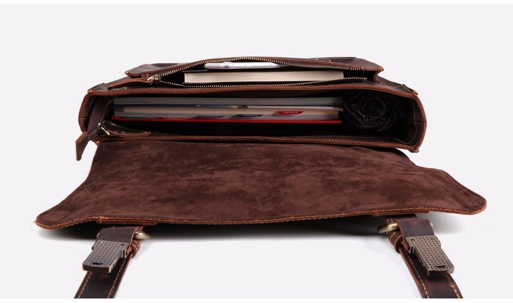 HTB1ThLbmHorBKNjSZFjq6A SpXa2 JOYIR 2019 Vintage Men's Genuine Leather Briefcase Crazy Horse Genuine Leather Messenger Male Laptop Bag Men Business Travel Bag