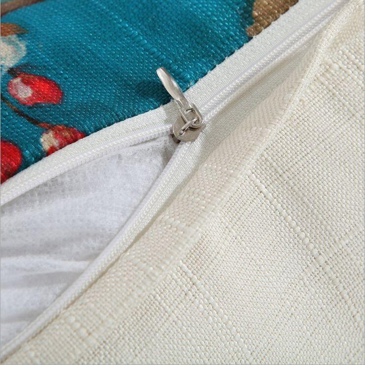Fuglblomst bomuldslinned Grace Bloom Sofapude 45x45cm / 17,7x17,7 '' - Hjem tekstil - Foto 4