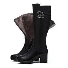 Genuíno Couro joelho botas altas das mulheres para o outono inverno sapatos de salto alto mulher bota(China (Mainland))
