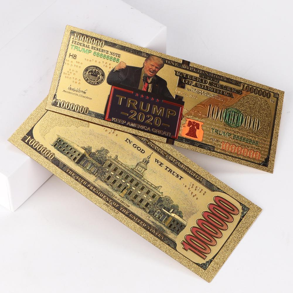 Donald Trump 24k Gold $1000 Bill For Collectors Good present pack of 1 bill