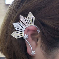1PC Luxury Star Ear Cuff For Women Cubic Zircon Wedding Party Movie Star Red Carpet Earring Boucle d'oreill 2019