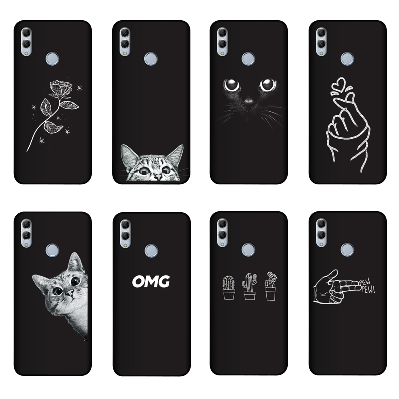 QAQsam Silicone 6.21 inches For Huawei <font><b>Honor</b></font> 10 Lite <font><b>Case</b></font> Cover Painting Matte Phone <font><b>Cases</b></font> For <font><b>Honor</b></font> <font><b>10i</b></font> HRY-LX1T Funda image