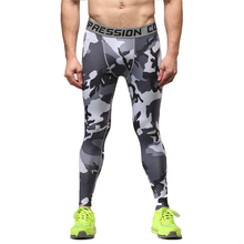 ФОТО new arrival fitness compression pants 2017 crossfit tights men bodybuliding trousers slim multi elastic camouflage male pants