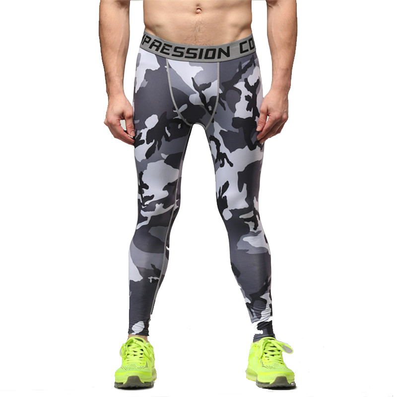 New Arrival Fitness Compression Pants 2017 crossfit Tights Men Bodybuliding Trousers Slim Multi Elastic Camouflage Male Pants