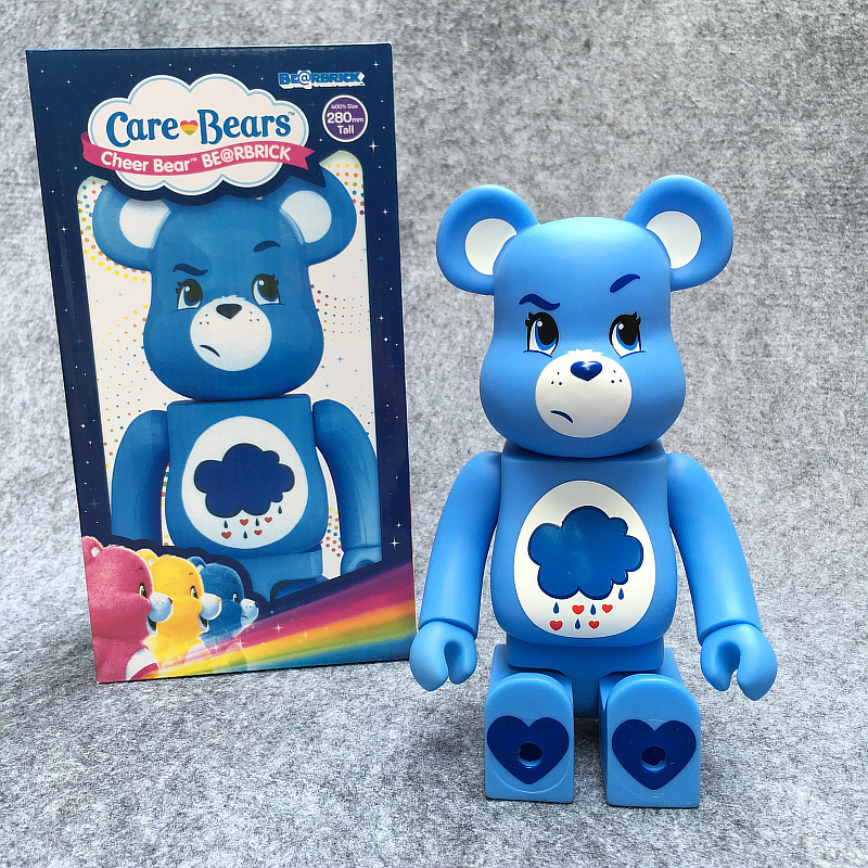 400% 28cm Care BE@RBRIC Cos Raining Bear Toy DIY Graffiti Vinyl Action Figure Gloomy Bear Collectible Model Toy H132