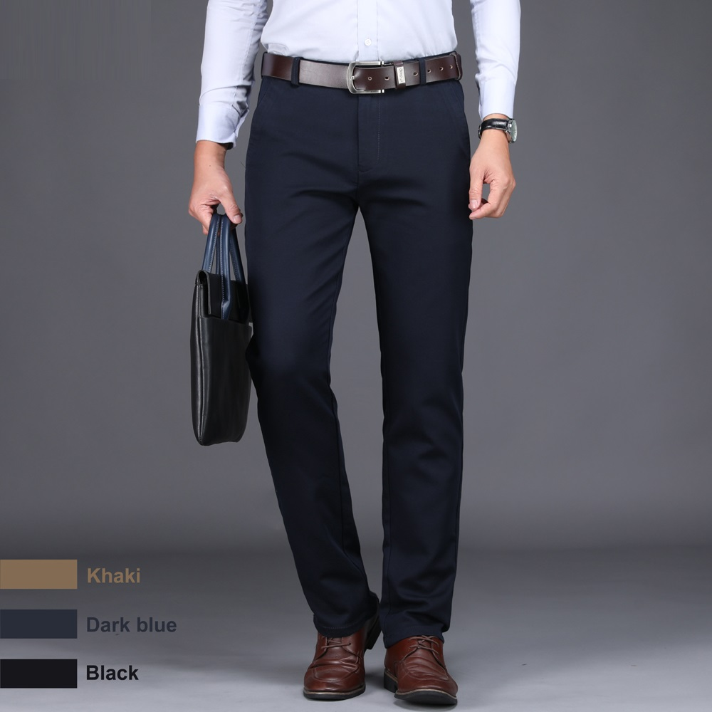 ICPANS 2019 New Spring Men 39 s Fashion Business Casual Suit Pants Male Elastic Straight formal Dress Trousers Plus big Size 28 44 in Suit Pants from Men 39 s Clothing