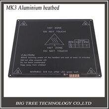 2016 НОВЫЕ продукты Лучшие продажи Инновационных MK3 Алюминий heatbed для 3d принтер 220*220*3 мм с Радиан углы