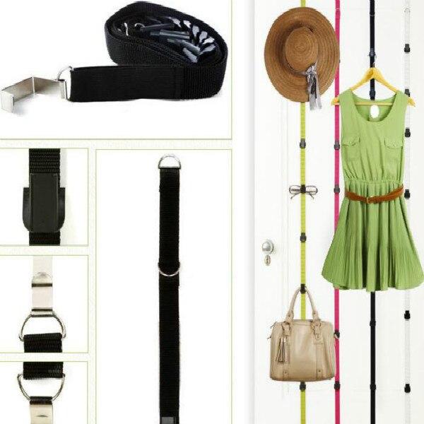Sincere Adjustable Hanging Handbag Closet Organizer Purse Storage 7 Hook Door Collection Hanger Hat Bag Strap Belt Clothes Rack Home Improvement