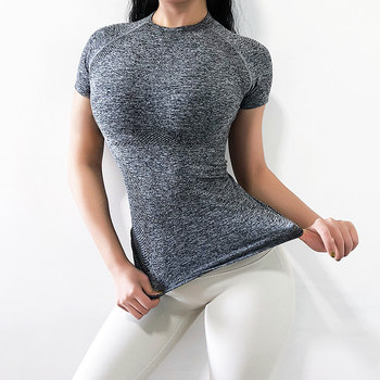 Women's Sports Wear For Women Gym Yoga Top T-shirt Female Workout Tops Sport Shirt Fitness Seamless Jersey Woman Workout Tops 5