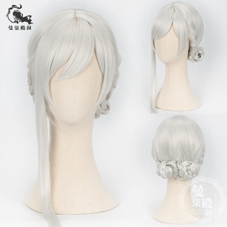 Boys Costume Accessories Kids Costumes & Accessories Sinoalice Cosplay Wig Alice Snow White Silver Braids Hair Buns
