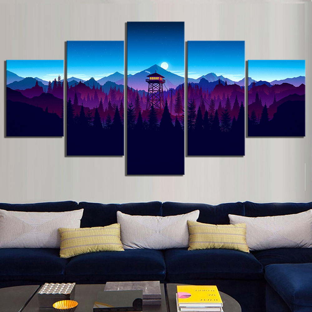 observation tower Landscape Decor Painting HD Printed Picture Decor Paintings Canvas Wall Art Home Decor Picture Wall Art Canvas in Painting Calligraphy from Home Garden