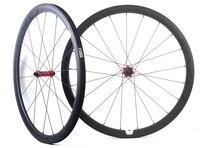 EVO 38 мм Глубина дорожный мотоцикл колеса углерода 25 мм ширина довод/tubular велосипед углерода колесная 3 К матовая с прямой тянуть концентратор