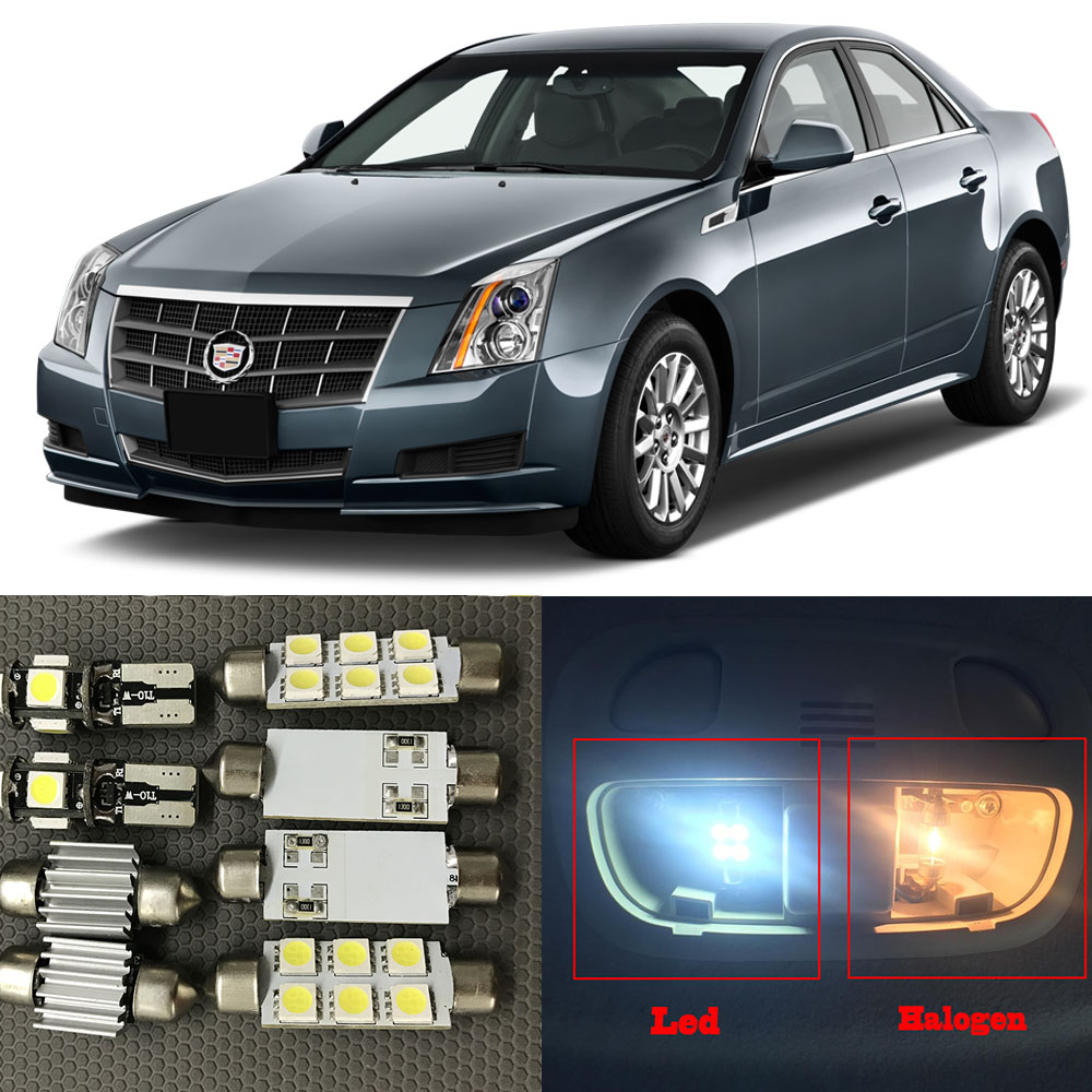 Cadillac Cts 2013 Price: 14pc Auto Interior LED Lights Bulb White Canbus Kit For 2008 2013 Cadillac CTS Map Dome Trunk
