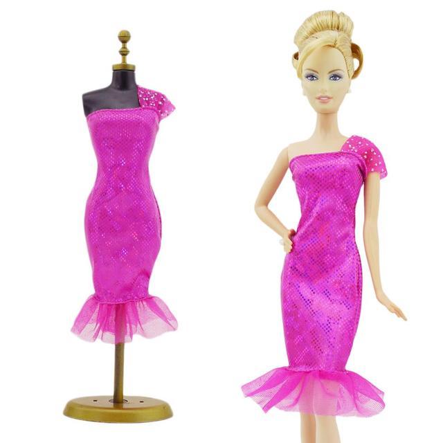 Fashion Elegan Gaun Pesta Malam Pink Single Bahu Lengan Fishtail Rok