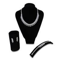 3 piece Suit African Jewelry Set Iadies Wedding Fashion Bridal Party Necklace Bracelets Earrings Accessories Free Give the Rings