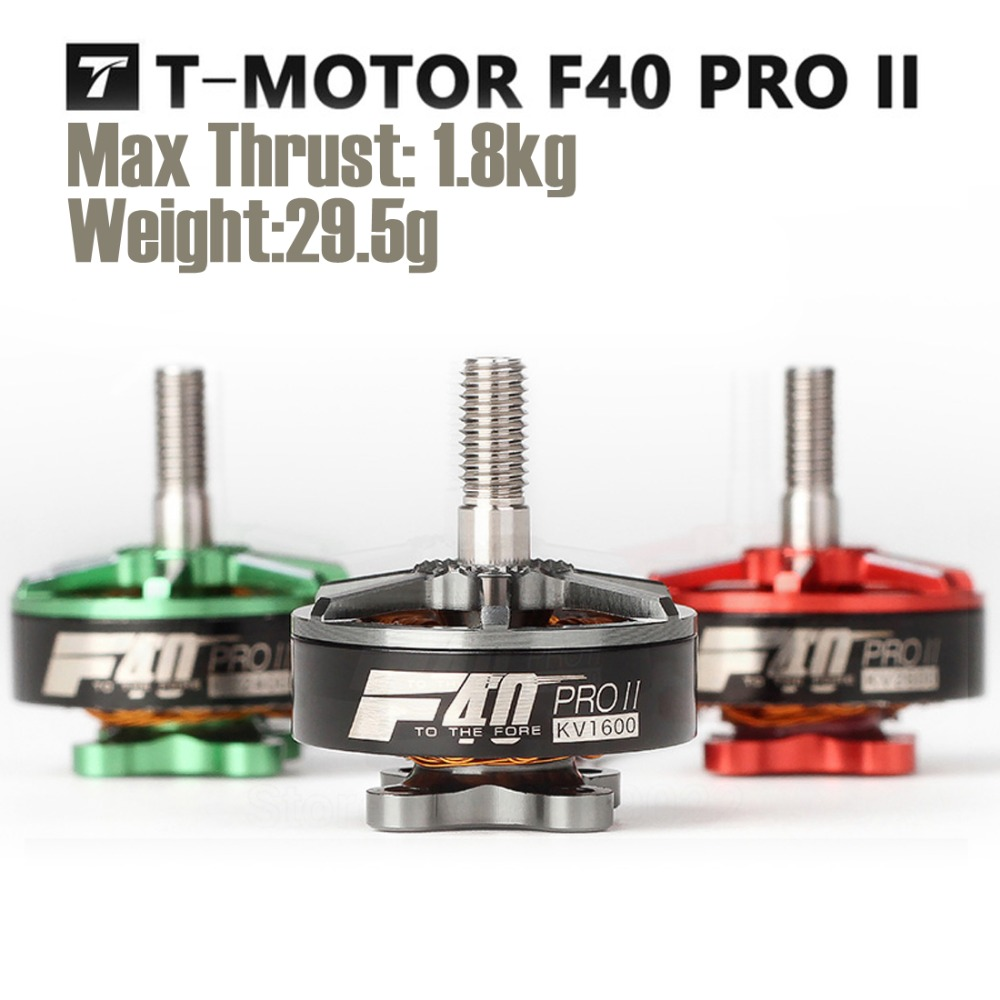 T-motor F40 PRO II 1600KV/2400KV/2600KV FPV sin escobillas Motor eléctrico impermeable para FPV libre de HQ6040 accesorios de carreras