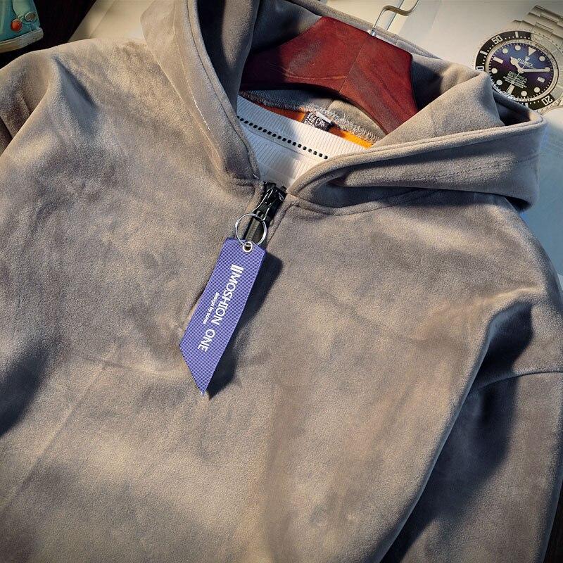 Nouveau hiver survêtements hommes ensemble epaissir polaire pull sweat + pantalon costume de sport ensemble sweat à capuche homme sport costumes - 5