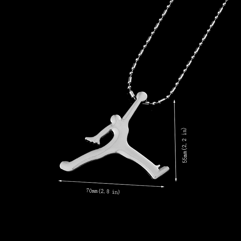 Hip Hop Necklace Men Long Stainless Steel Chain Basketball Athlete Male Pendant Necklaces Colar Masculino Costume Jewelry Gift