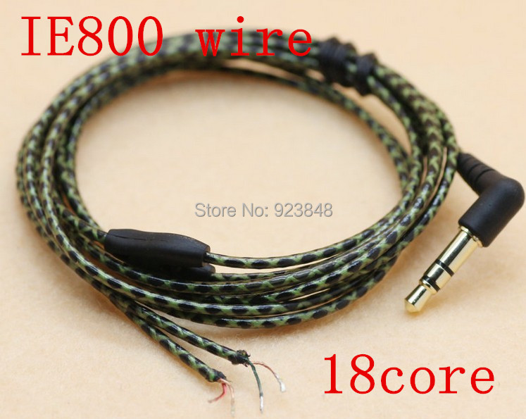 IE800 wire curved plug 18core diy earphone wire 5NlC-OFC