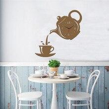 3D mirror silent wall clock modern design stickers clock for home decor