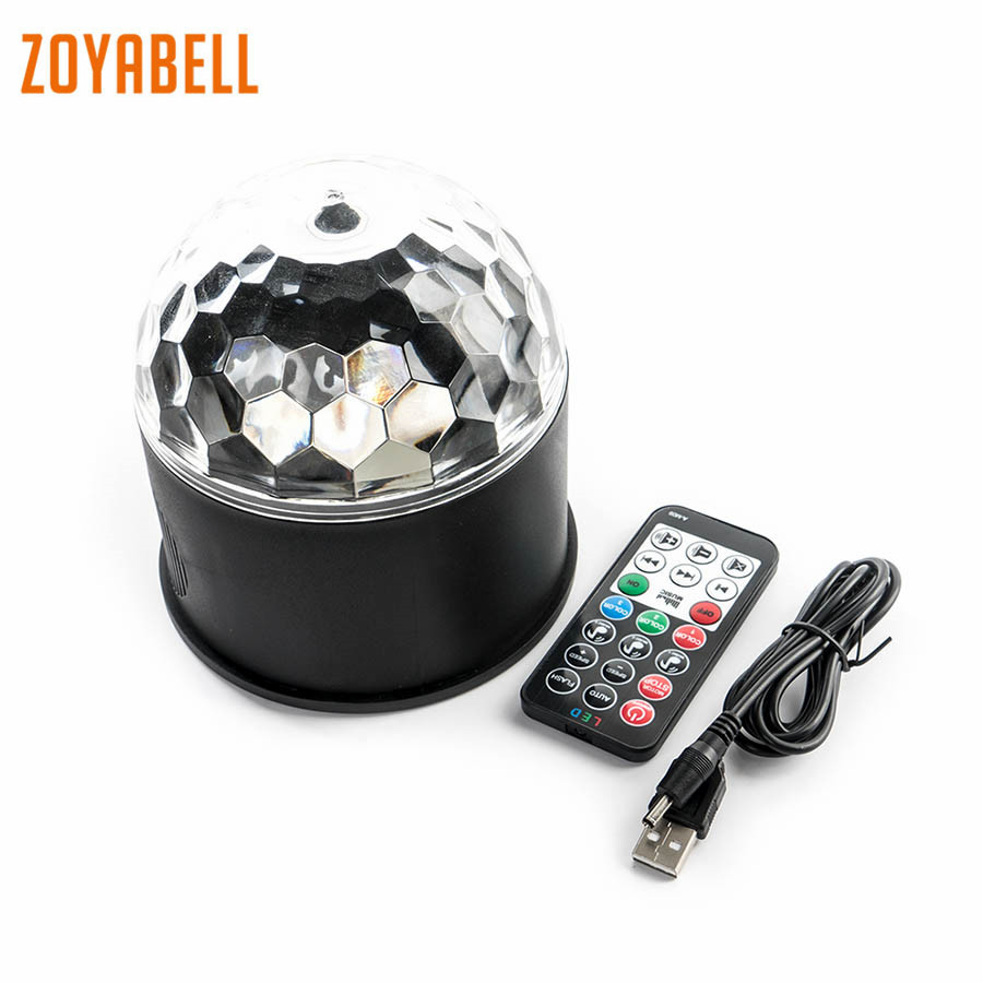 zoyabell Led USB Disco Stage Bluetooth Party DJ Light 9 Colors Music Speaker Laser Club Lamp Projector RGB Party Stage Lighting