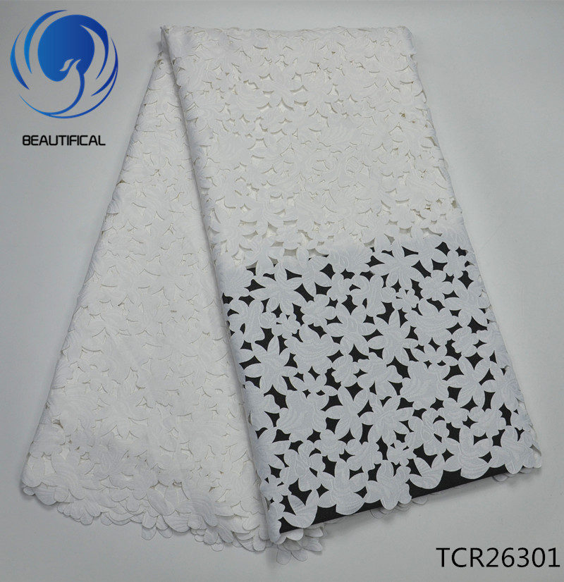 BEAUTIFICAL White Lace Swiss Voile For Dress 5 Yards Dry Lace 2019 In Switzerland Voile Lace
