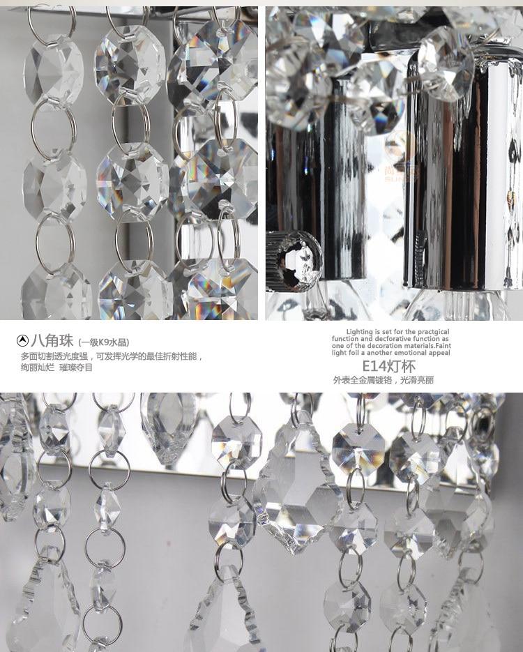 1 pcs bathroom crystal light led wall lamp dressing room led photos list aloadofball Gallery