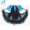 New 2016 Women Square Ballroom Dance Skirts Flower Large Swing Latin Dance Skirt Practice Clothes Performances Dancewear
