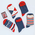 New Style Men's colorful Business brand socks ,Combed Cotton socks US 7.5-12 (5 pairs/lot )