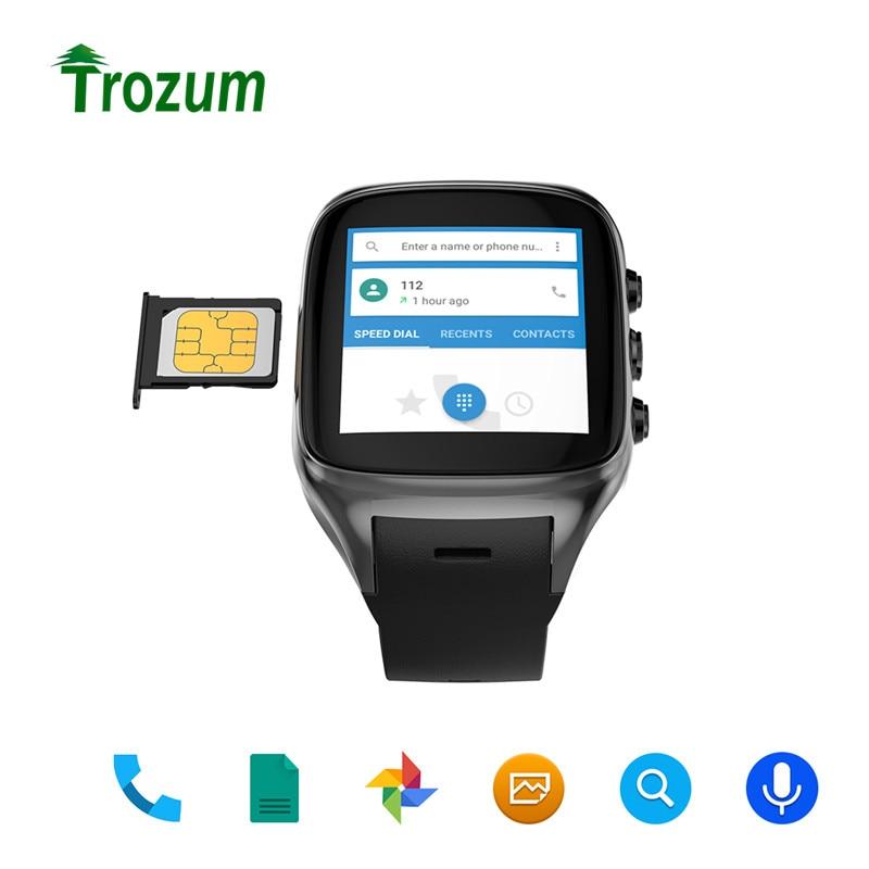 Trozum X02S Smart Watch MT6580 Android 5.1 WiFi GPS Bluetooth Heart Rate Sport Wristwatch Phone Dial Call Clock Fitness Tracker espanson smart watch 3g android 5 1 wifi gps bluetooth heart rate sport wristwatch phone dial call camera clock fitness tracker