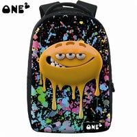 ONE2 New Design Laptop Backpack Bag Fashion School Backpack Plastic Backpack 3d Teenager Kids Backpack With