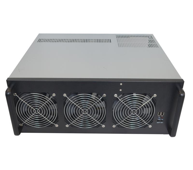 crypto mining gpu and19 inch rack Sever Rig Frame usb miner Case For ATX Graphic Card Ethereum ETC ZEC XMR RX470 R9 380