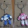 2 pcs Robocar poli Poli Robocar Korea Brinquedo Transformação Robot Car Chaveiro Anime Figura de Ação Brinquedos Para Crianças Presente