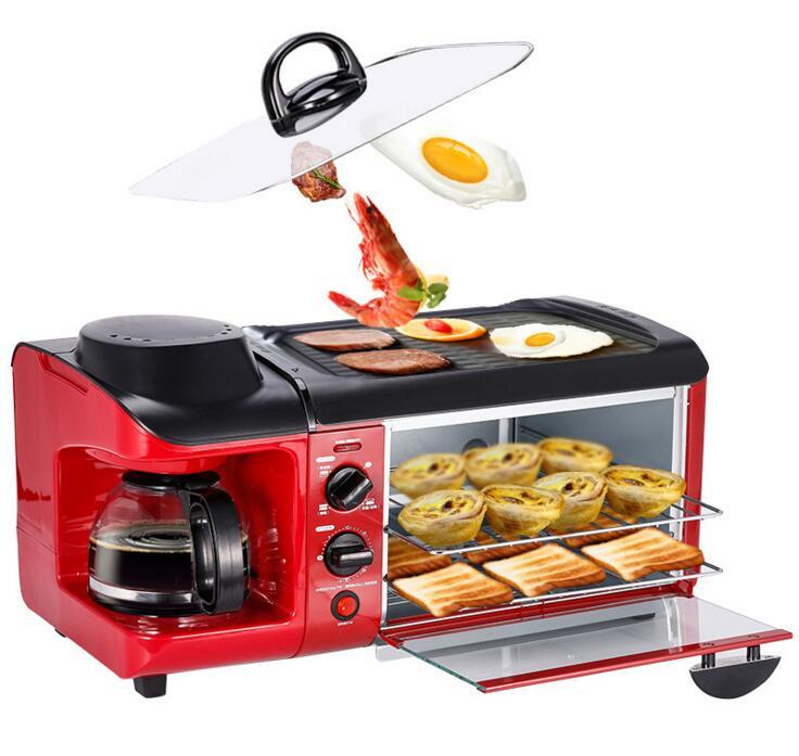 110V/220V Multi-Functional Bread Toaster Coffee /Omelette Making Machine Household Breakfast Machine tsk-2871 home multi functional breakfast machine toast toast cook coffee omelette triple multi functiona breakfast machine 110 220v