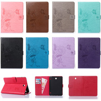 For Samsung GALAXY Tab S2 8.0 T710 Case Emboss Flower Butterfly Ant Pattern Wallet Flip PU Leather Tablet Back Cover Funda Capa