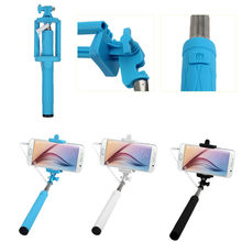 New Universal Wired Handheld Extendable Self-Pole Tripod Monopod for Selfie Stick for iPhone ,Samsung S3 S4 S6, other smartphone(China)
