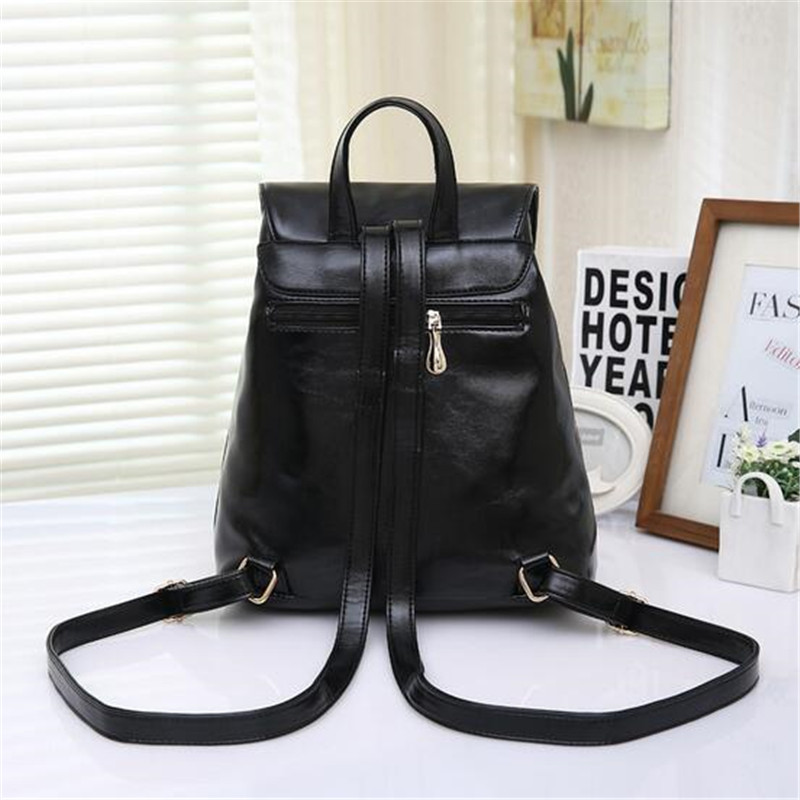 2016 Fashion School Bag PU Multi purpose Portable Shoulder Messenger  College Wind Women PU Leather Backpack Girls-in Backpacks from Luggage    Bags on ... 04cb677ac2b26