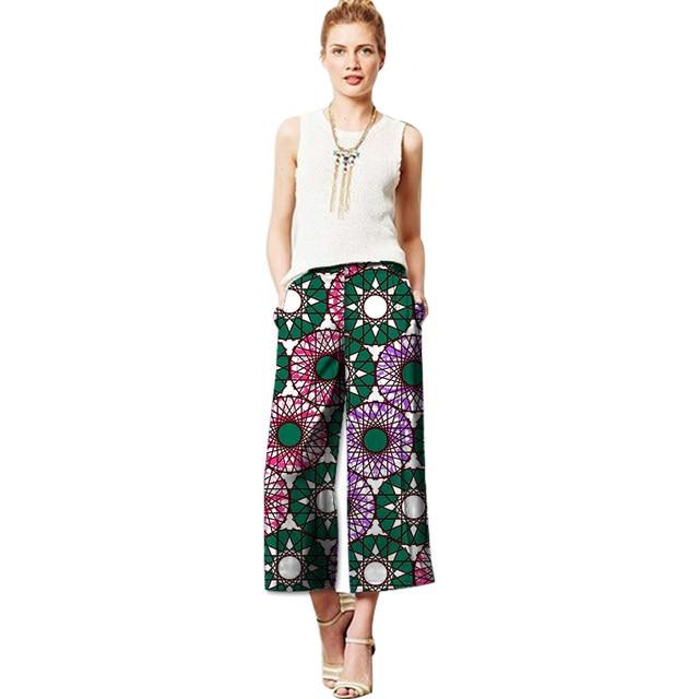 Fashion African Women Wide Leg Pants Dashiki Clothes African Print Batik  Loose Long Pants Lady Ankara Trousers Africa Clothing c5be87fda7