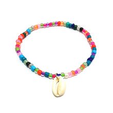 Handmade Bohemian Rice Beads Shell Anklets Colorful Summer Beach Beaded Anklet Foot Bracelet Jewelry Women Accessories