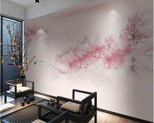beibehang New Chinese stereoscopic decoration three-dimensional 3D wall paper peach blossom landscape background 3d wallpaper