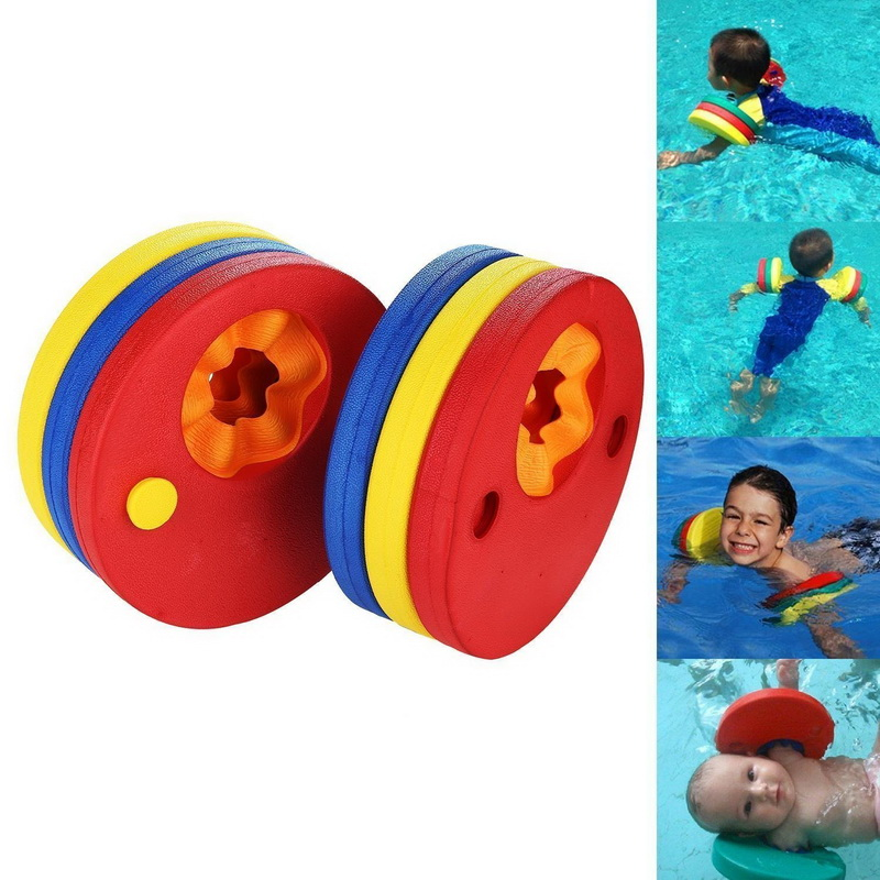 6Pcs EVA Foam Swim Discs Arm Bands Swimming Floating Sleeves Inflatable Pool Float Board Baby Swimming Exercises Circles Rings