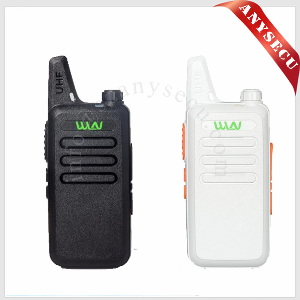 WLN KD-C1 Mini Walkie Talkie UHF 400-470 MHz 5W Power 16 Channel MINI-handheld Transceiver Lebih Baik Kemudian BF-888S