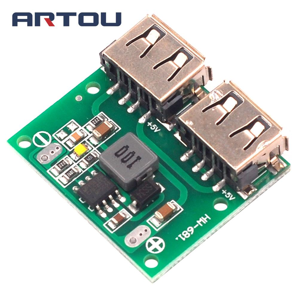 6~24V 12V to 5.2V 3A Dual USB DC-DC Step Down Charger Power Module Output ASS