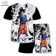 PLstar Cosmos Summer T Shirts Men Anime Printed Dragon Ball Z 3D T-Shirt and shorts Mens for boy Goku Suit free shipping цена 2017