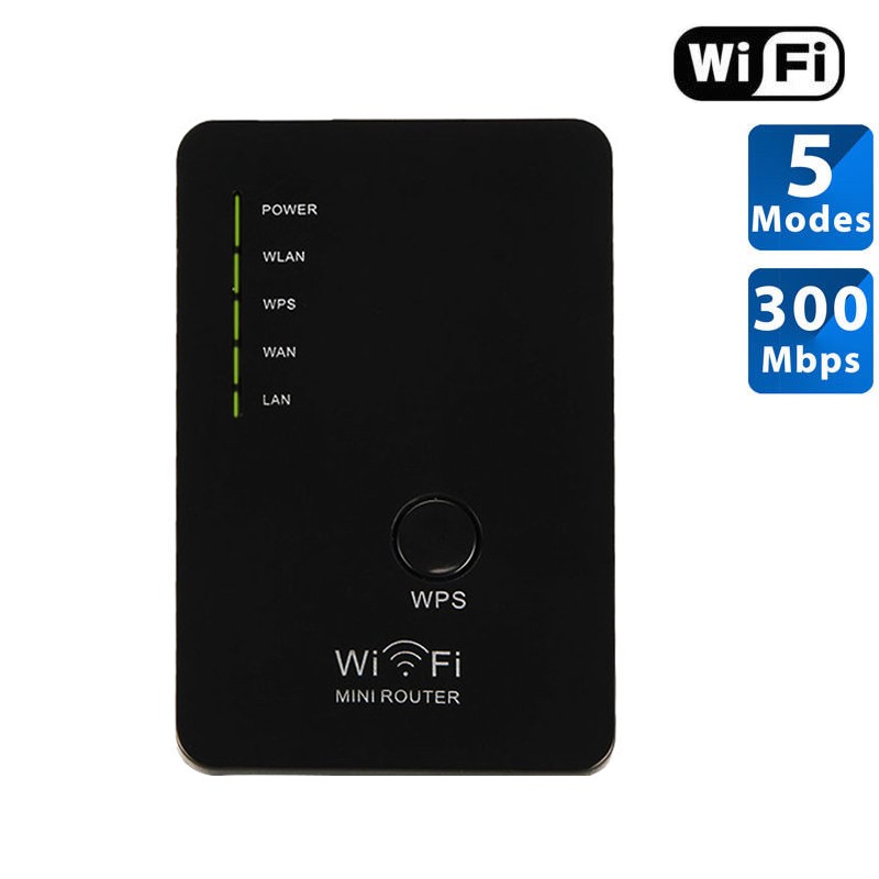 300Mbps Mini Wireless Wifi Repeater Router AP Repeater Booster Amplifier LAN WISP Bridge Wall Wi-fi Extender EU/US Plug