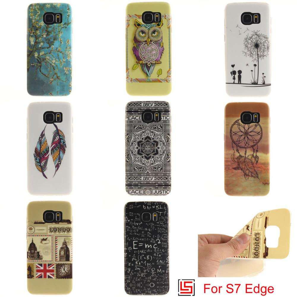 Art Abstract New Ultra Thin TPU Silicone Soft Phone Case carcasa Cover For Samsung Galaxy S7 Edge Tiger Dreamcatcher Owl