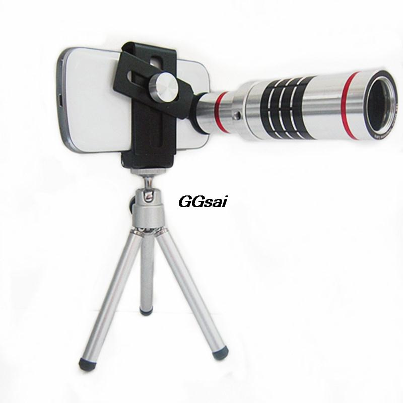 eeaeef37f6e84b 10pcs Universal clip Cell phone camera lens 18 times telephoto lens  wide-angle camera accessories binoculars For Samsung phone