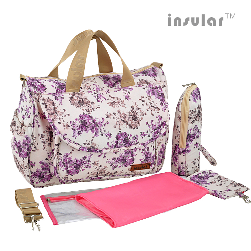 High Quality Multifunctional Diaper Bags  Maternity Mummy Nappy Bags Flower Style Mom Handbag Baby Stroller Bag new multifunctional diaper bags mother bag high quality maternity mummy nappy bags flower style mom handbag baby stroller bag