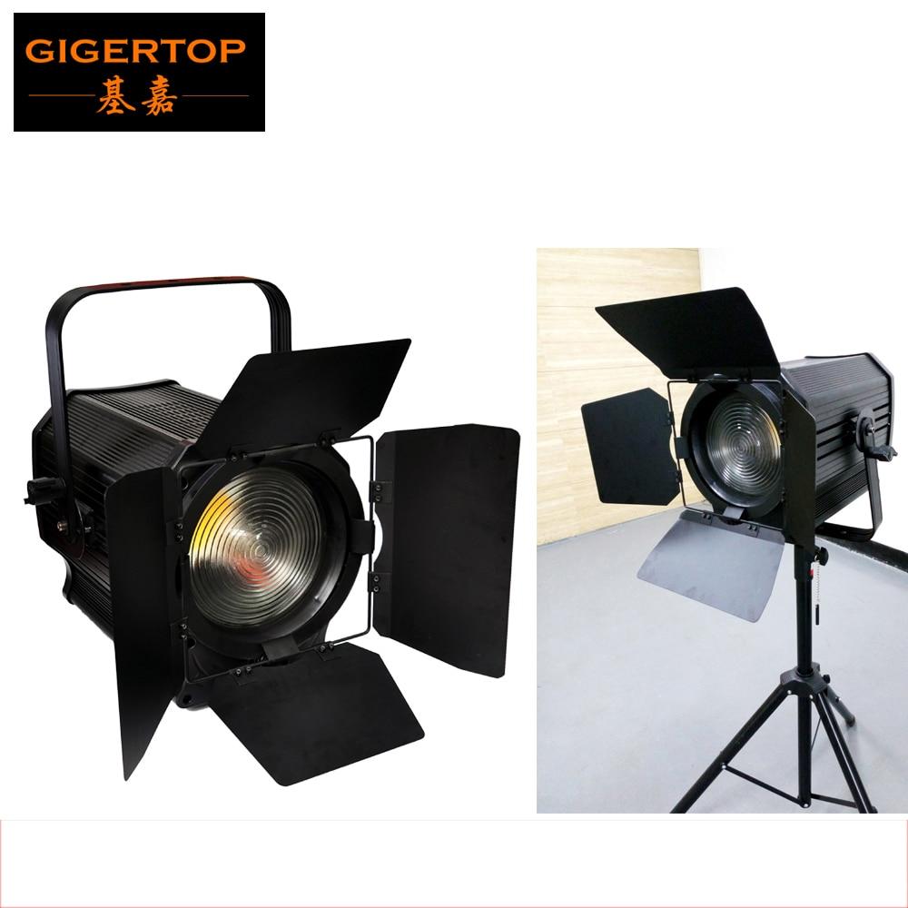 TIPTOP APOLLO White Studio Fresnel Film Lamp Barndoor Flicker Free Led COB Professional Theater Washer Light DMX Electrical Zoom осветитель greenbean fresnel 200 led x3 dmx 25244